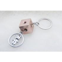 熊熊LOGO積木鑰匙圈