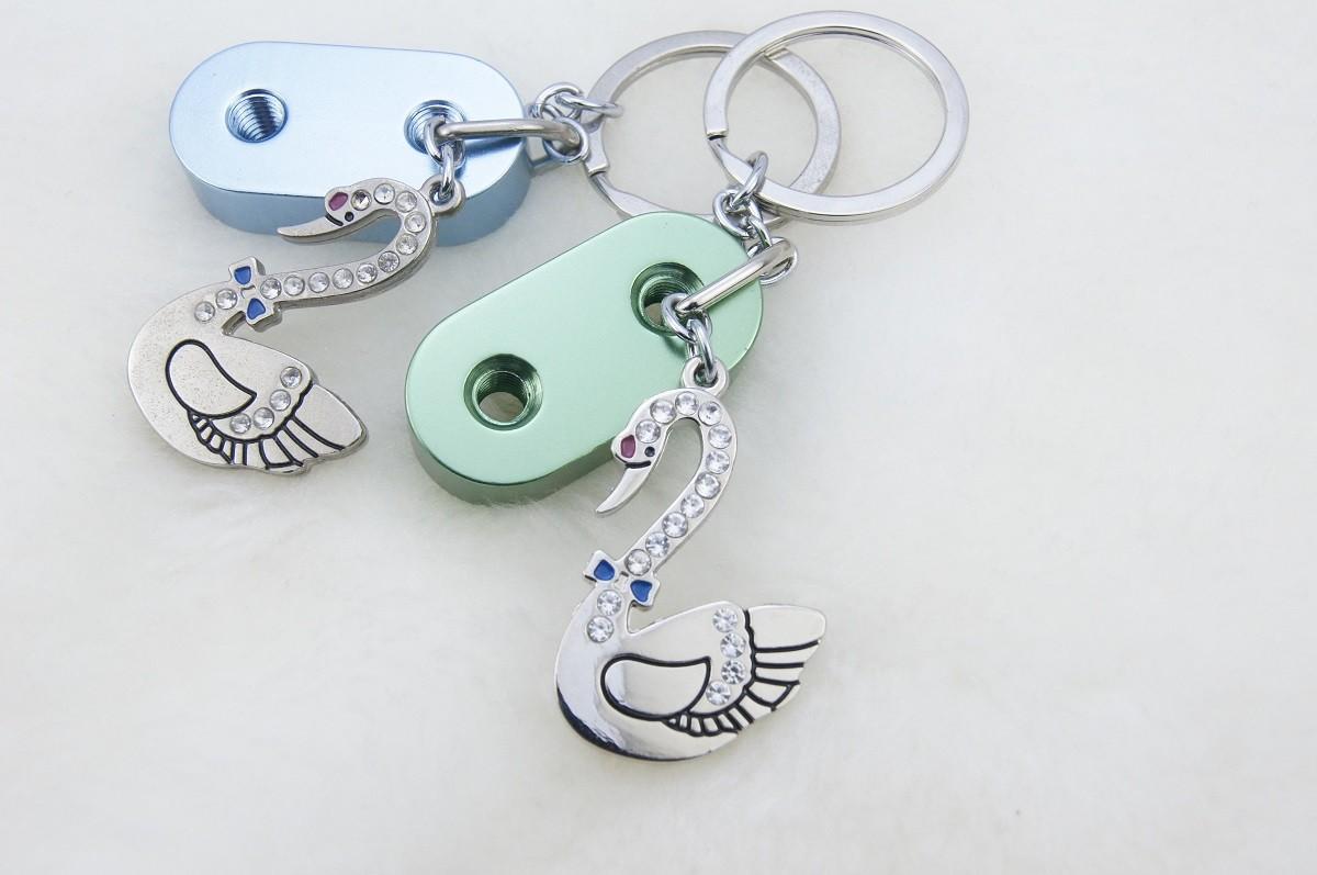 天鵝積木鑰匙圈