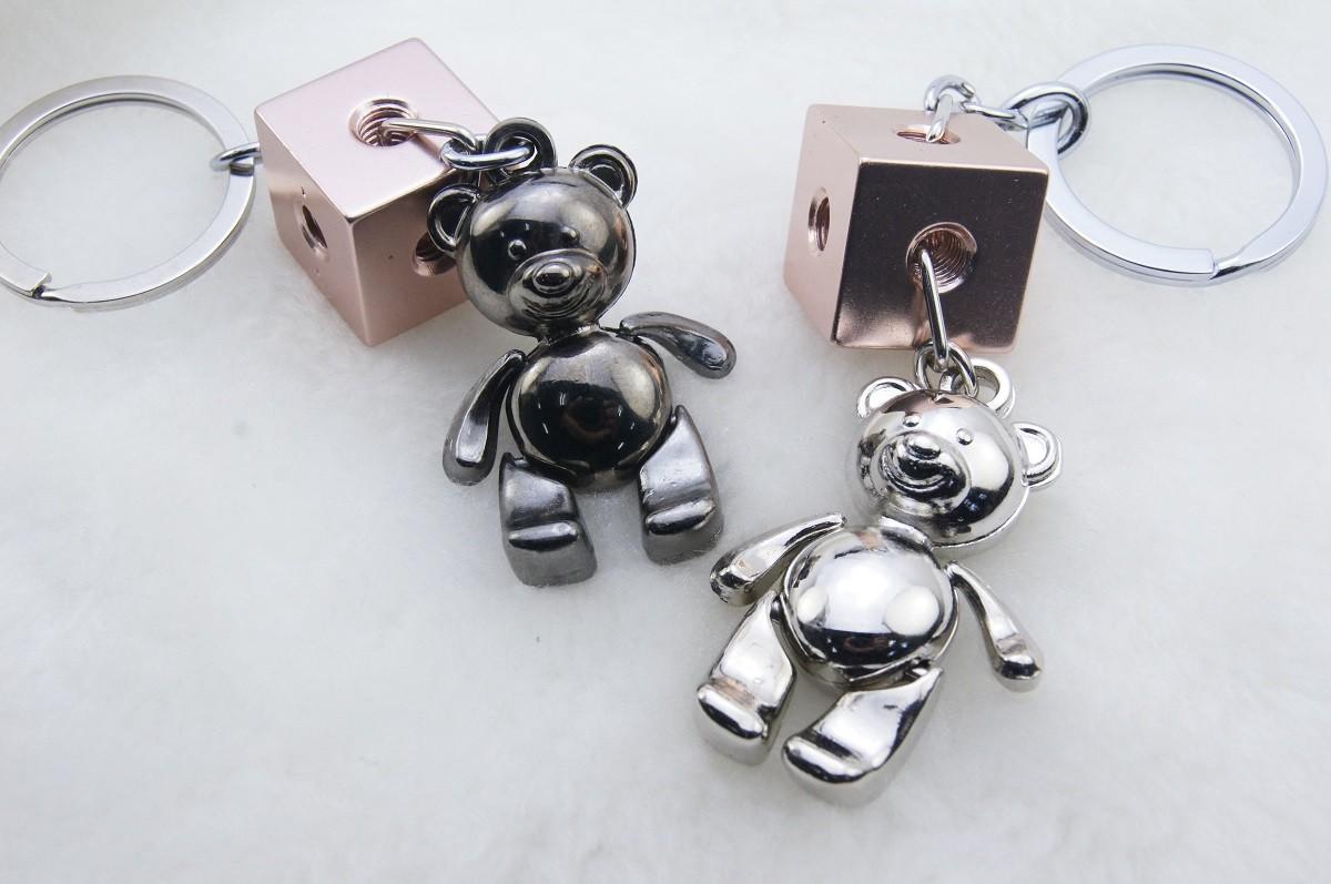 可動熊熊積木鑰匙圈